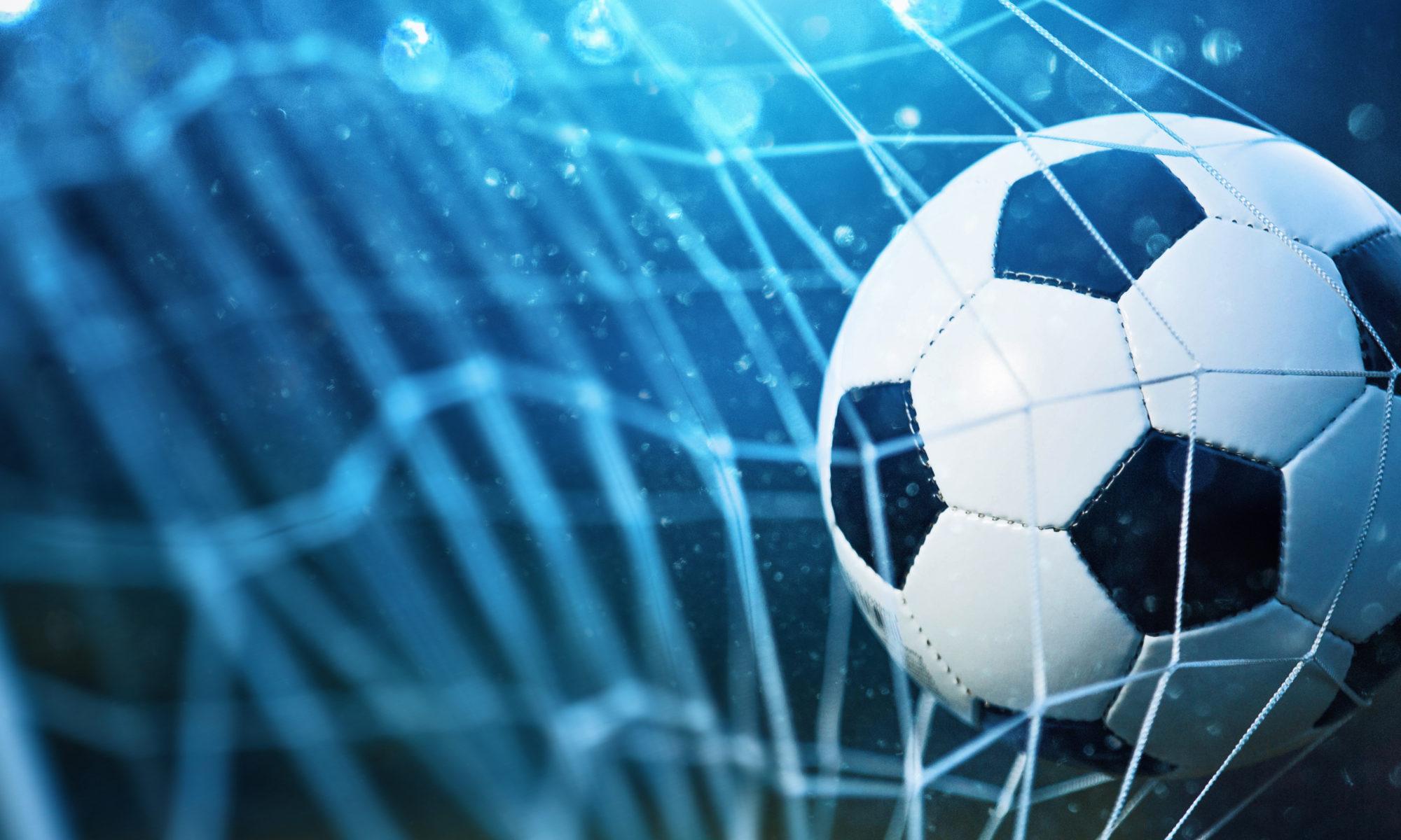 piłka do piłki nożnej w bramce