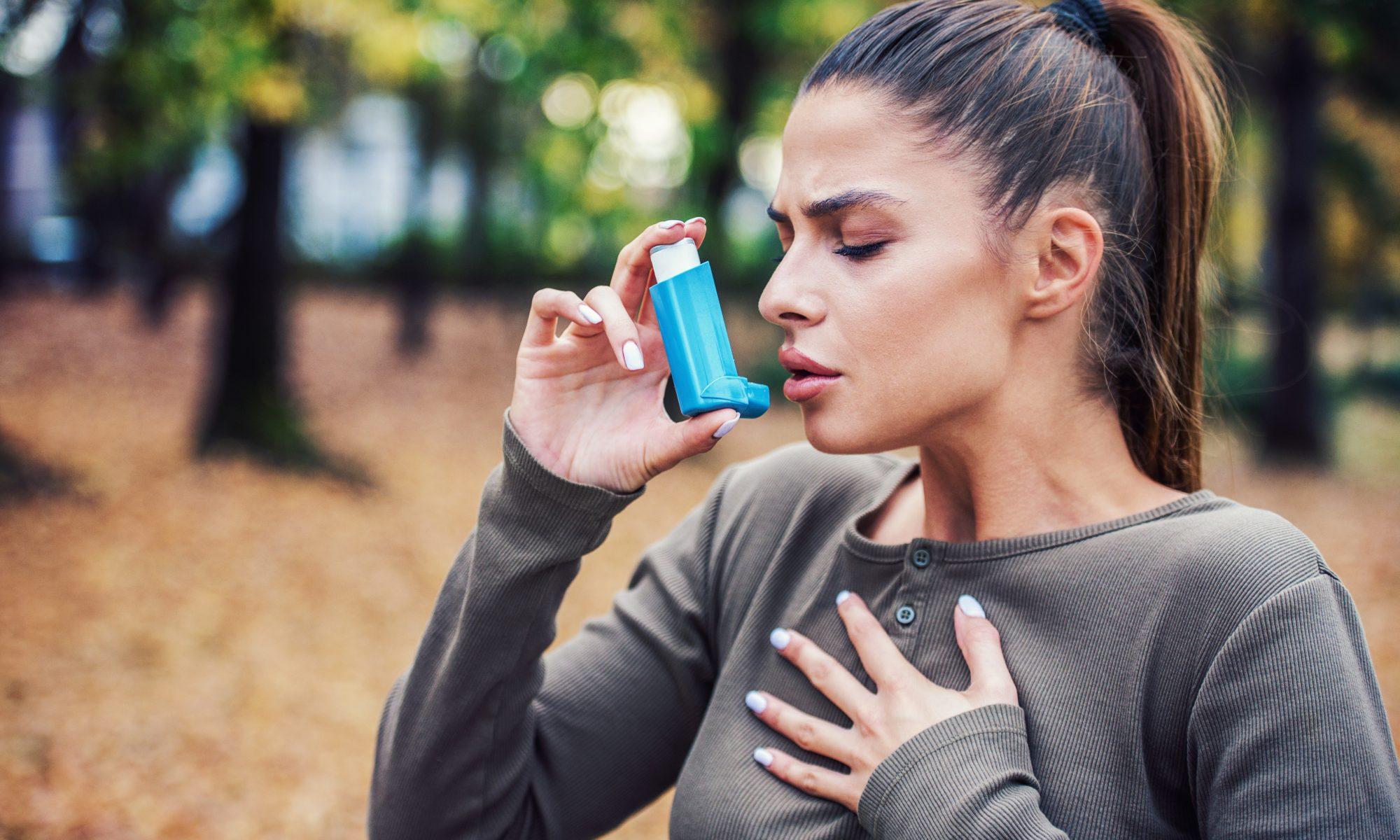 kobieta napad astmy